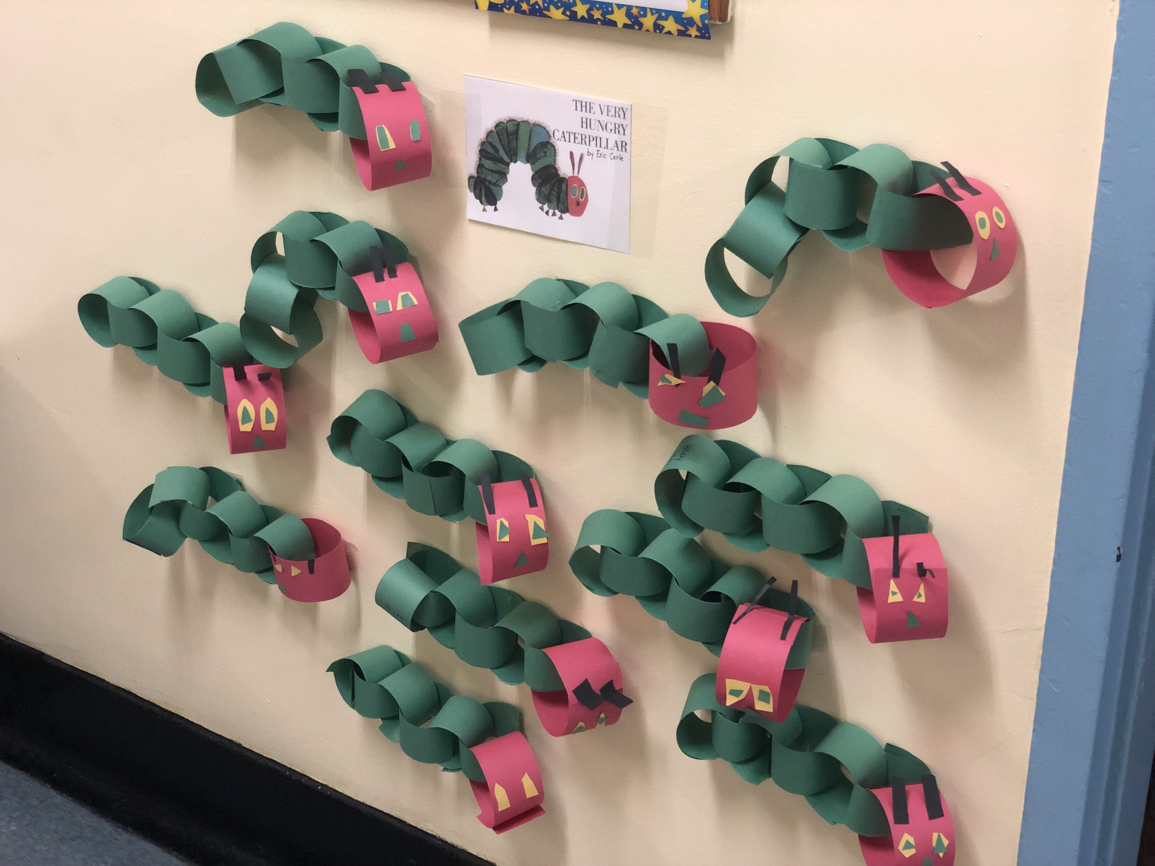 hungry caterpillar artwork by students