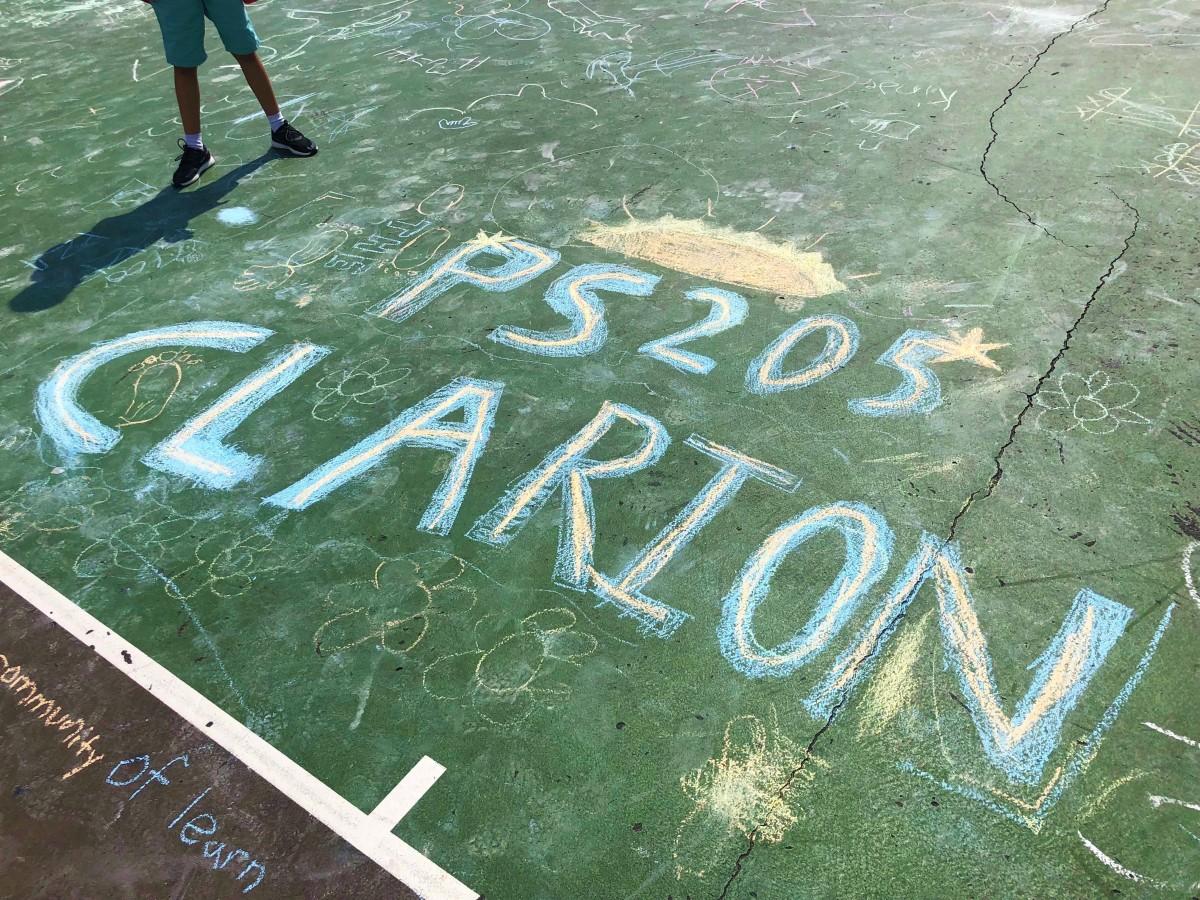 ps 205 chalk drawing