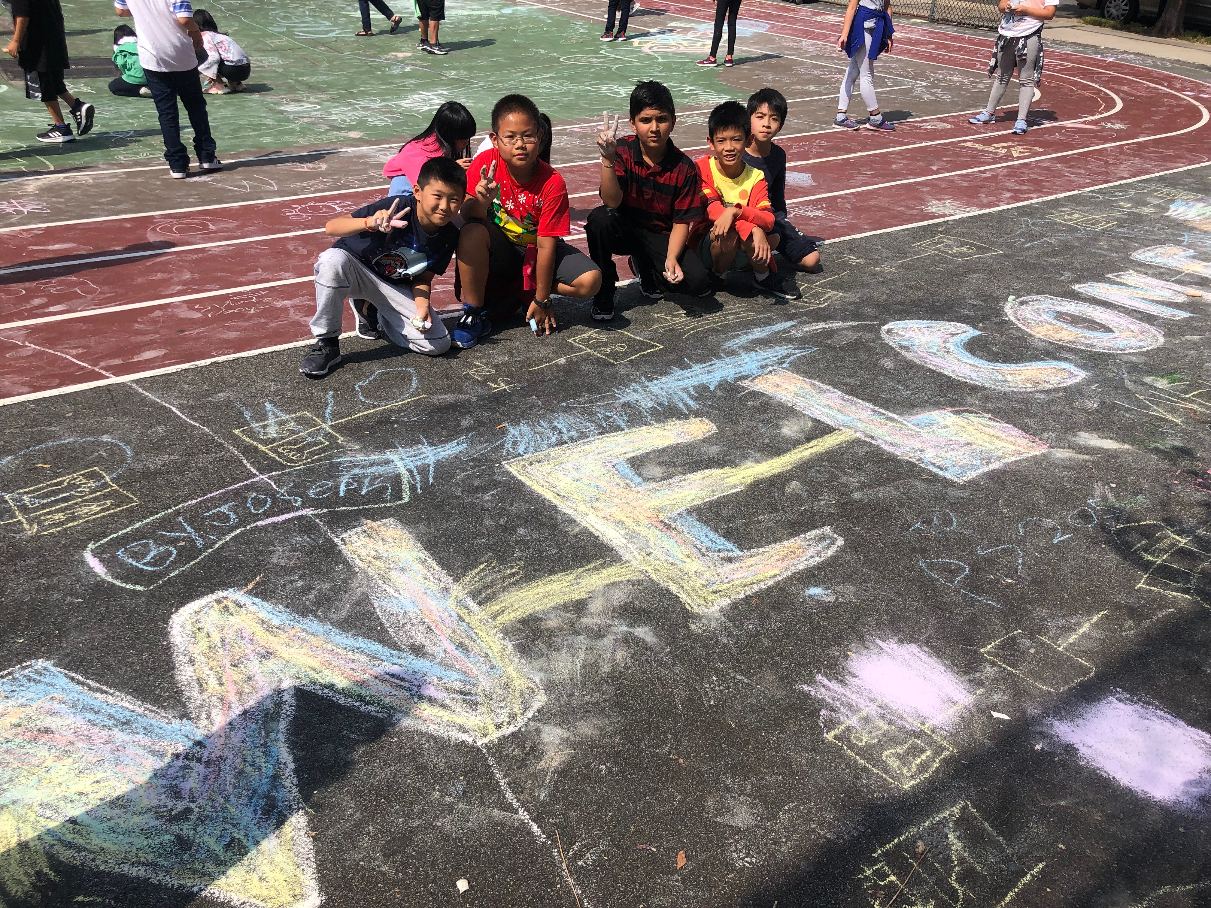 welcome chalk